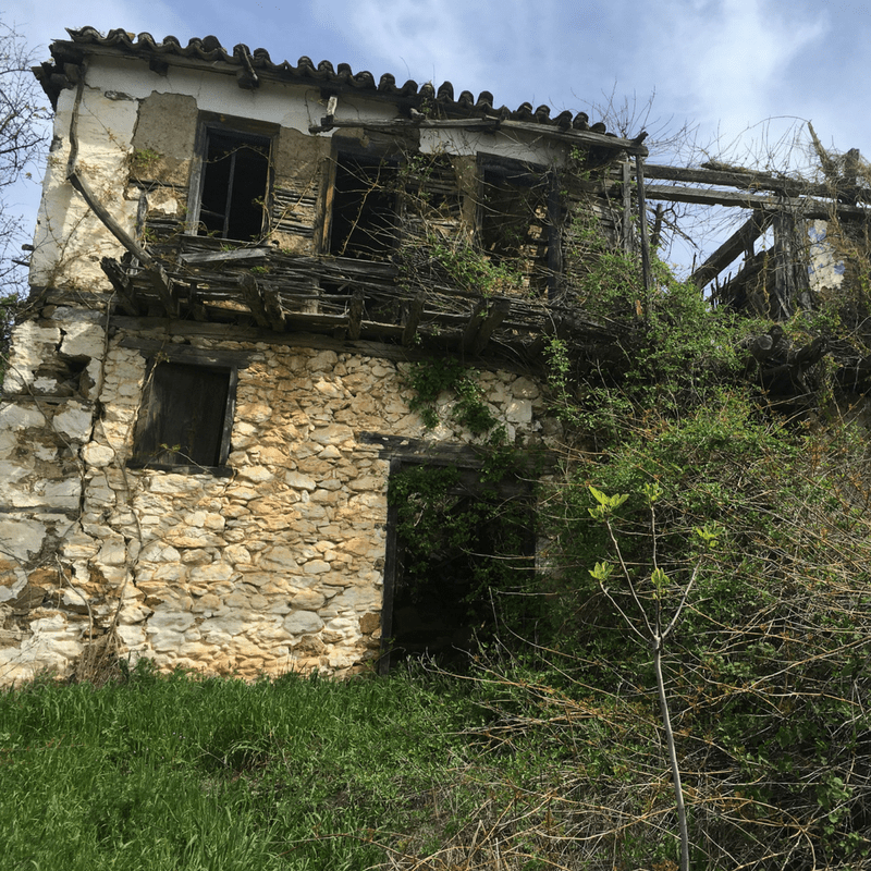 Deserted House In A Beautiful Village In Halkidiki Greece