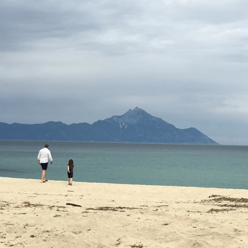 View Out To Mount Athos In Halkidiki