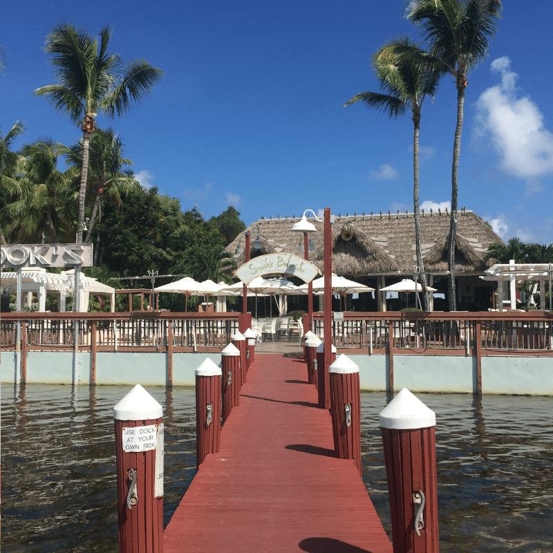 beautiful beach bar in the florida keys
