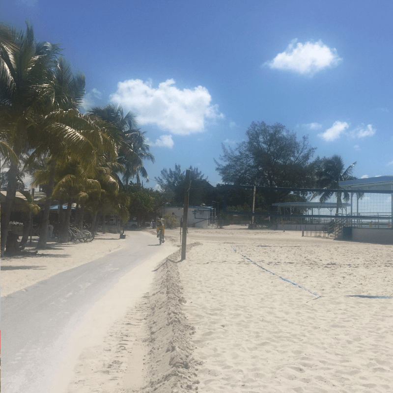 deserted beach in key west