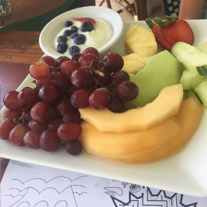 fruit bowl at the southernmost cafe in key west