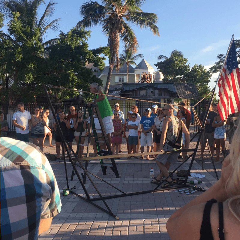 street performers at mallory square in key west