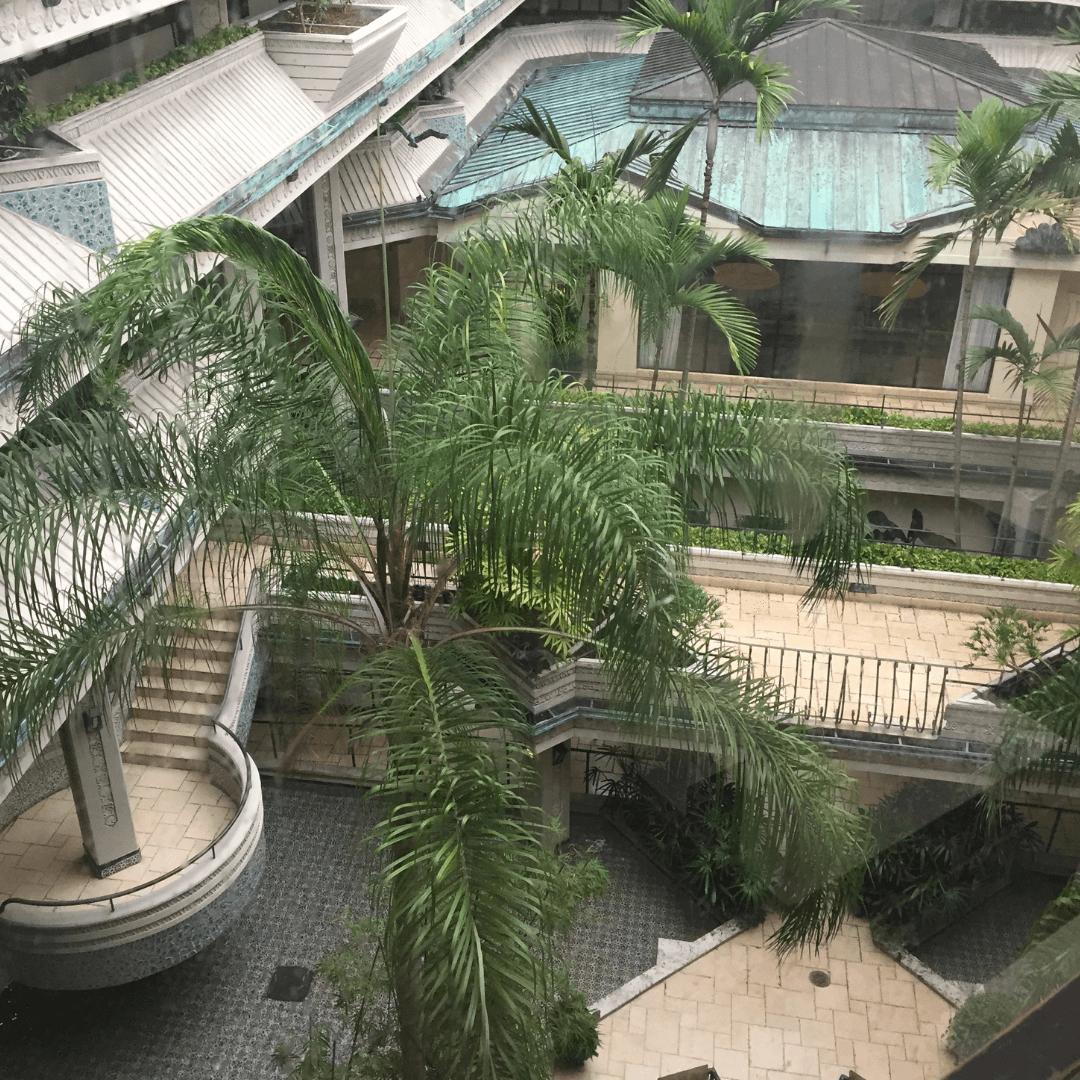the inner atrium at the mayfair hotel coconut grove
