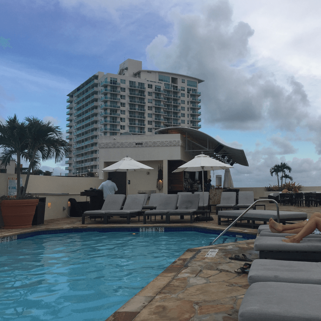 rooftop pool at the mayfair hotel miami