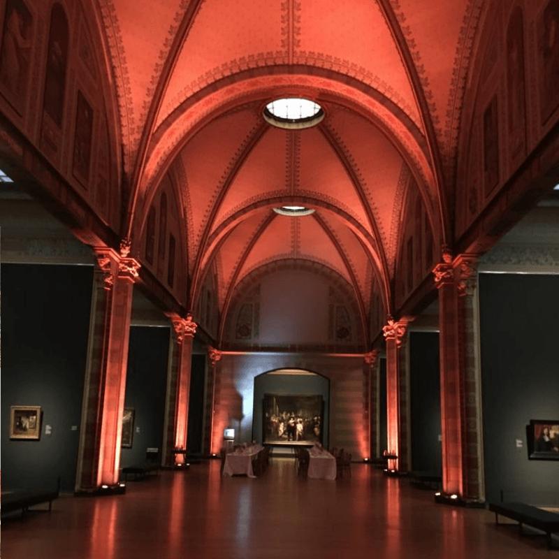 beautiful interior shot of museum in amsterdam