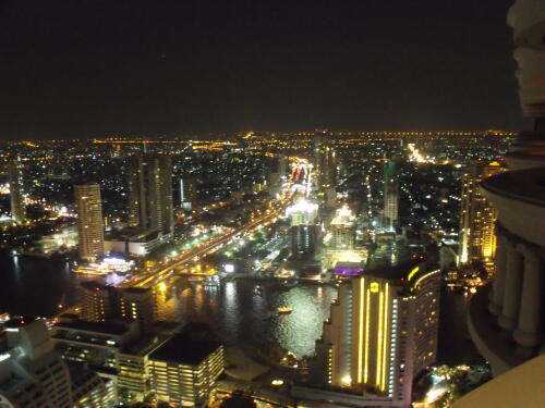 Night View From The Lebua State Tower In Bangkok