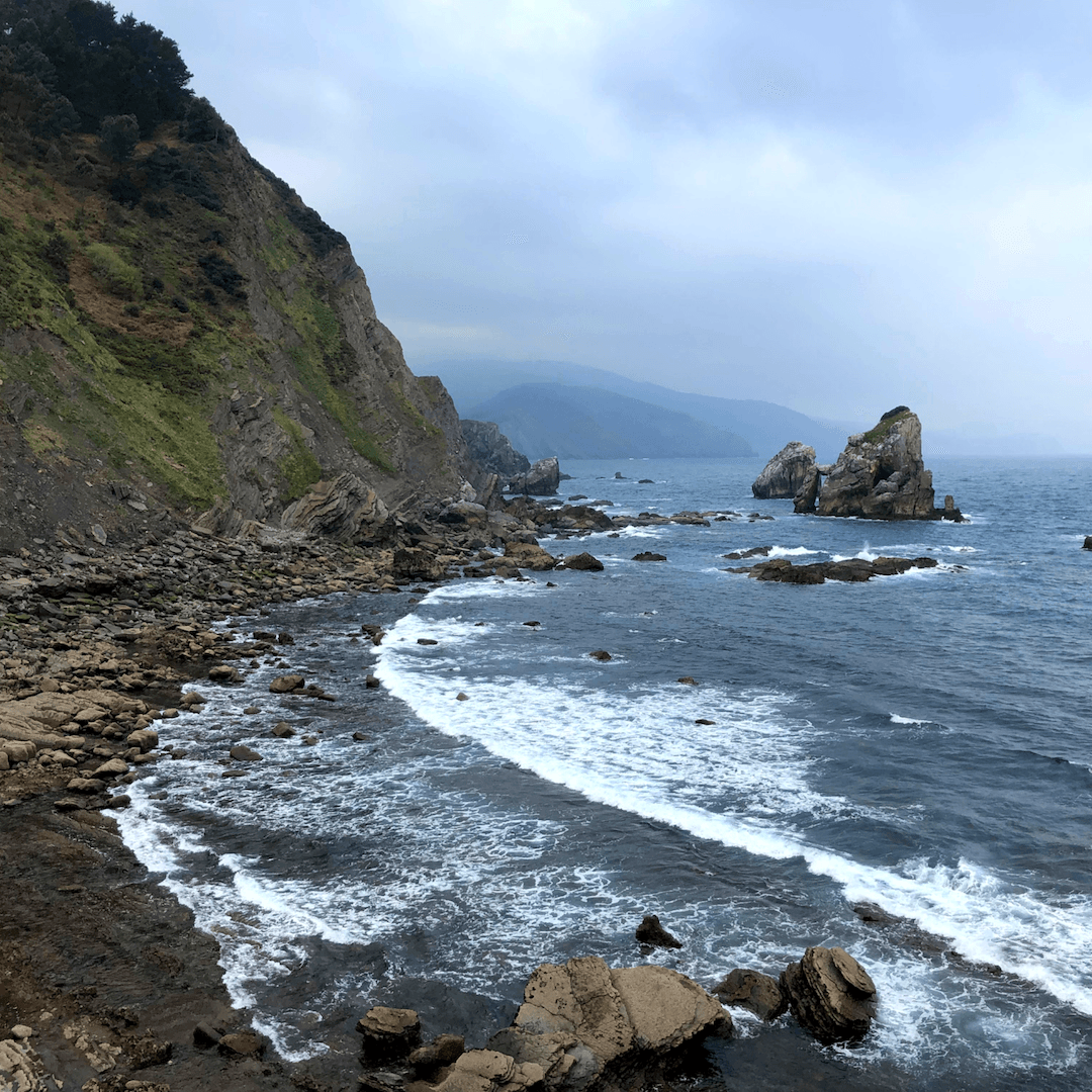 rugged and beautiful beaches in the basque country