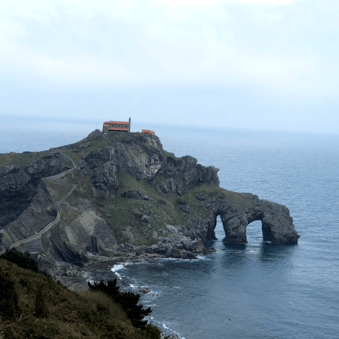 view across to dragonstone, a game of thrones filming location in spain