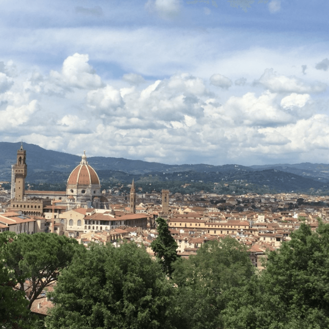 one week in Tuscany view from Pitti palace