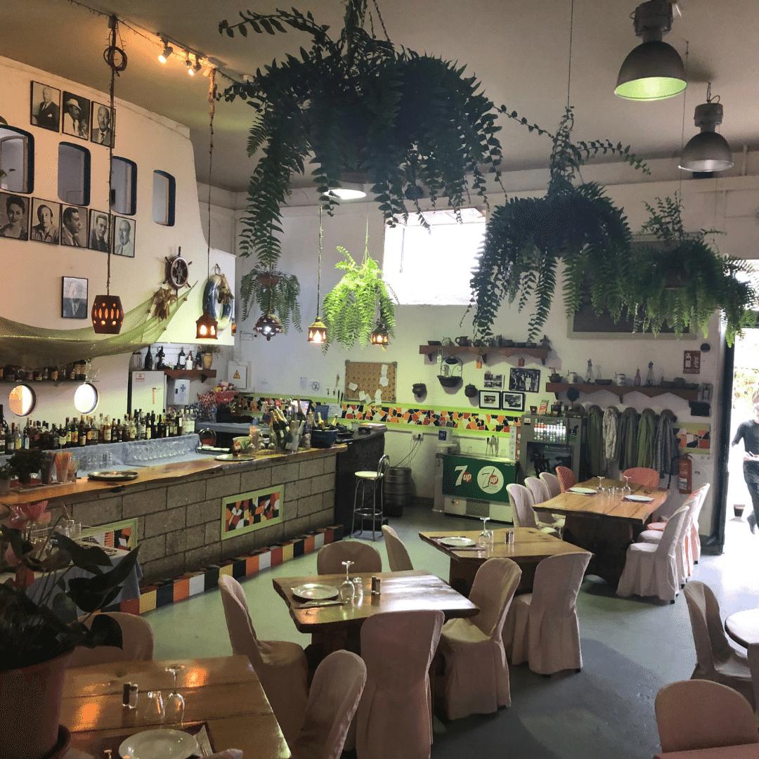 spanish style interior of la finca restaurant in tenerife