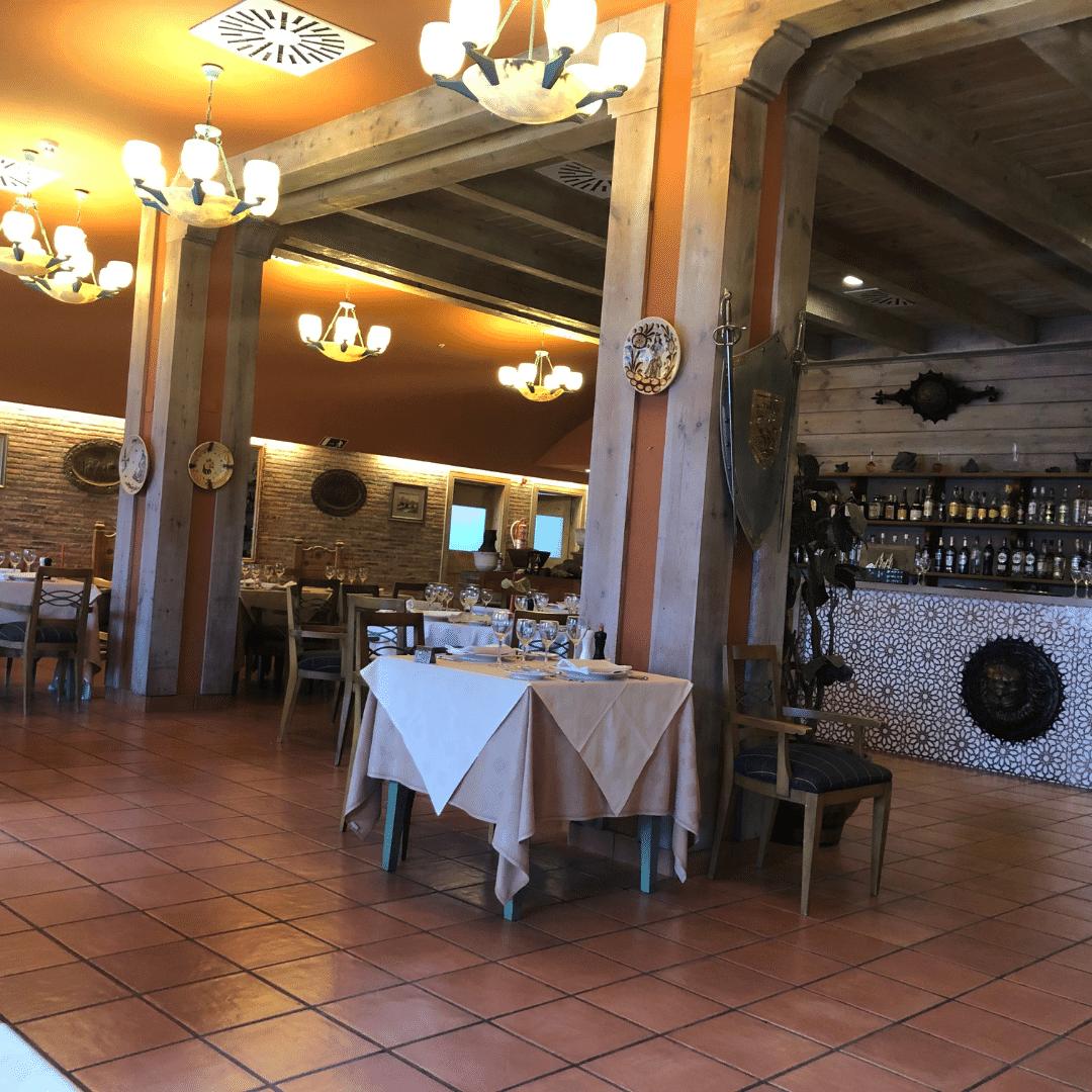 interior of spanish restaurant at the rock nivaria