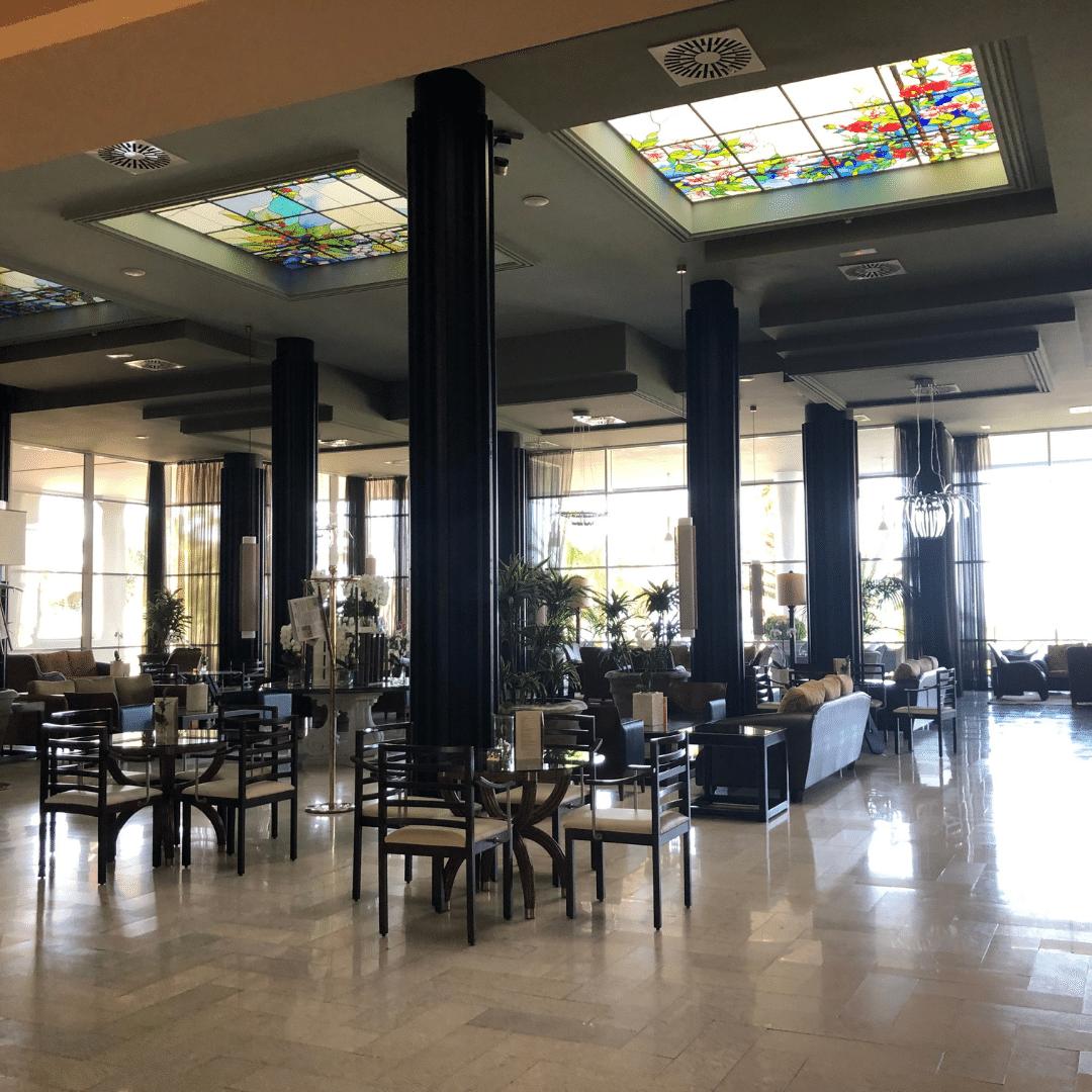 bar area at the roca nivaria gran hotel in tenerife