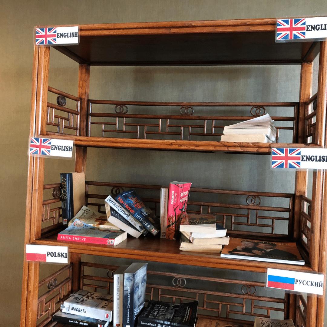 book swap area at the roca nivaria hotel
