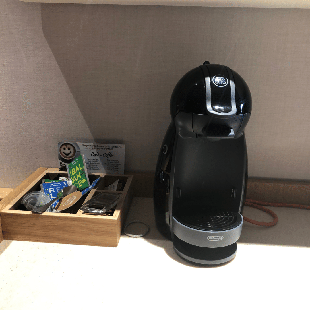 coffee machine in the room at the roca nivaria hotel