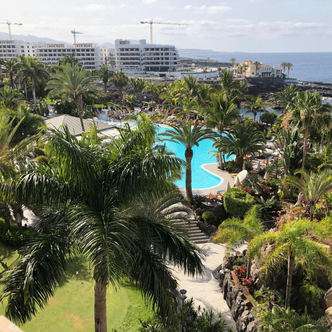view of the pools at the roca nivaria gran hotel