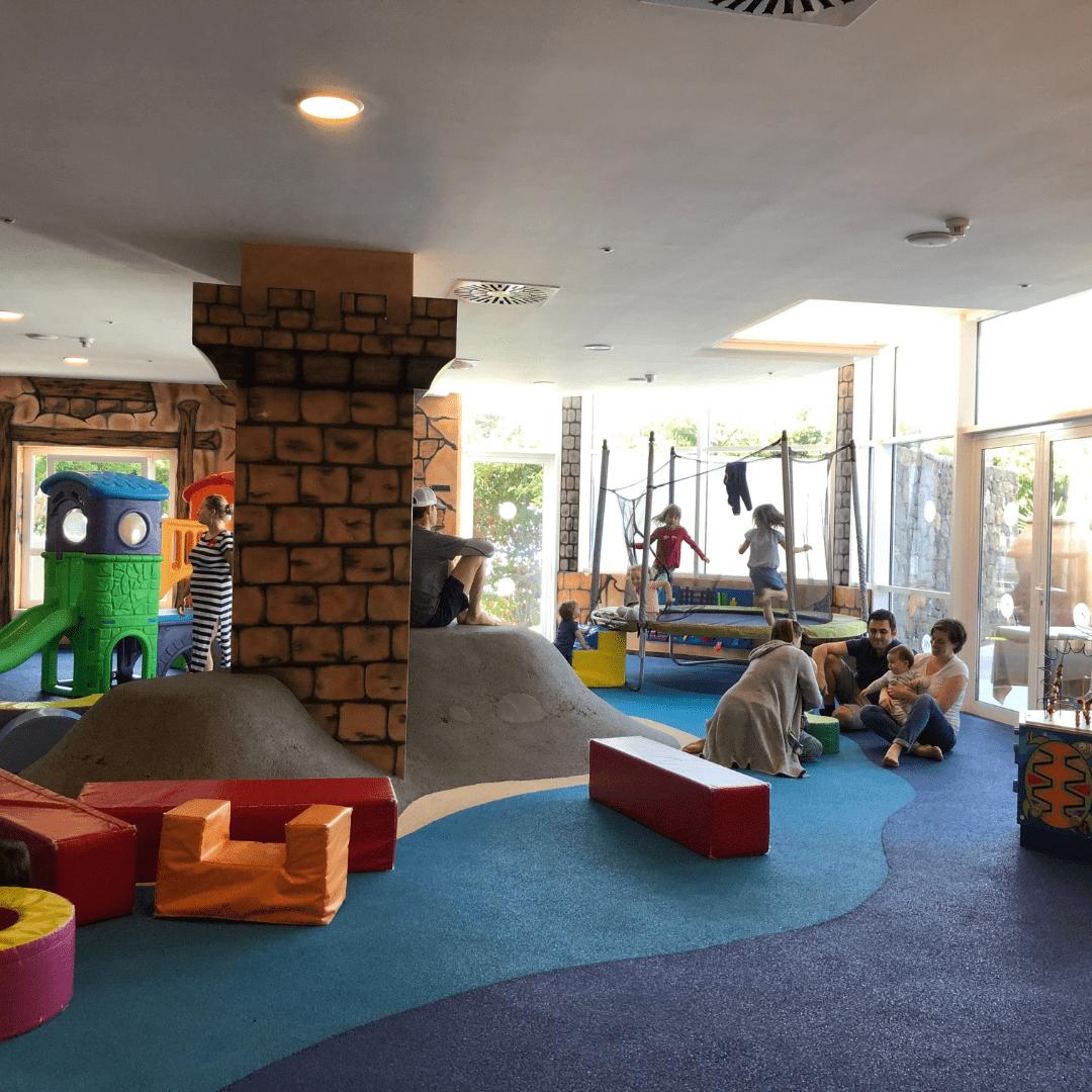 kids indoor play area at the roca nivaria hotel