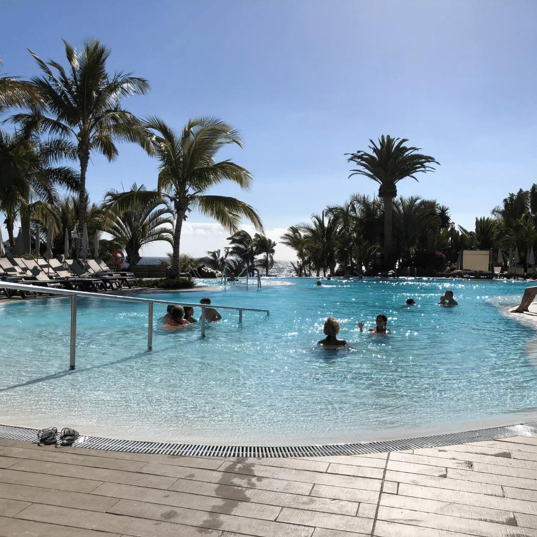 infinity pool at the roca nivaria