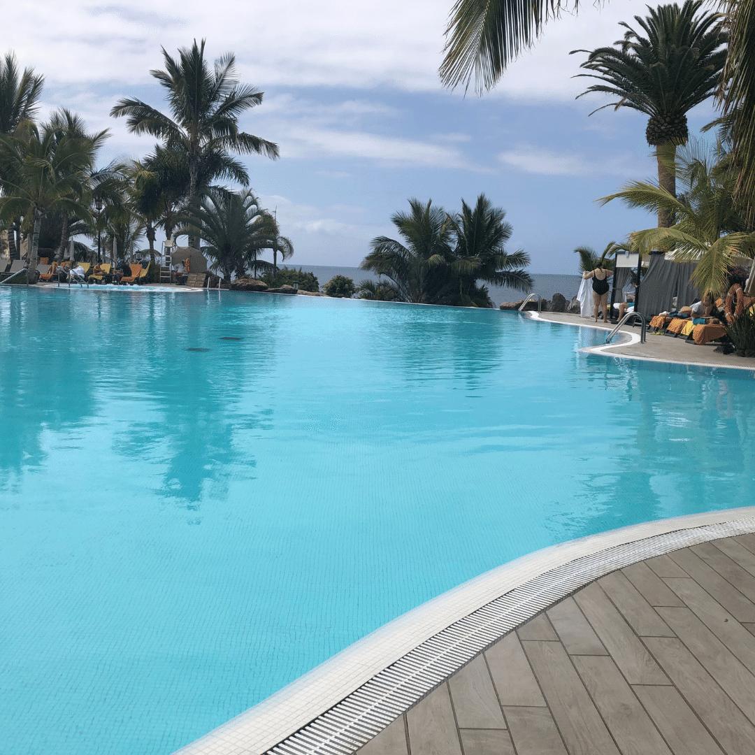 beautiful pool at the roca nivaria hotel in tenerife