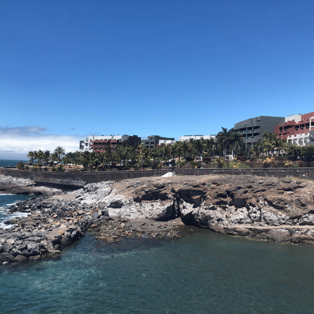 the roca nivaria hotel view from the beach