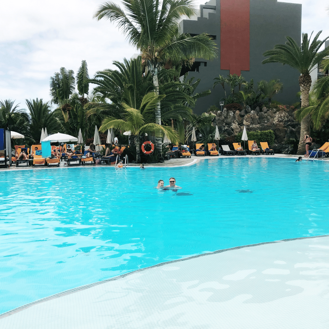 pool at the roca nivaria on a cloudy day