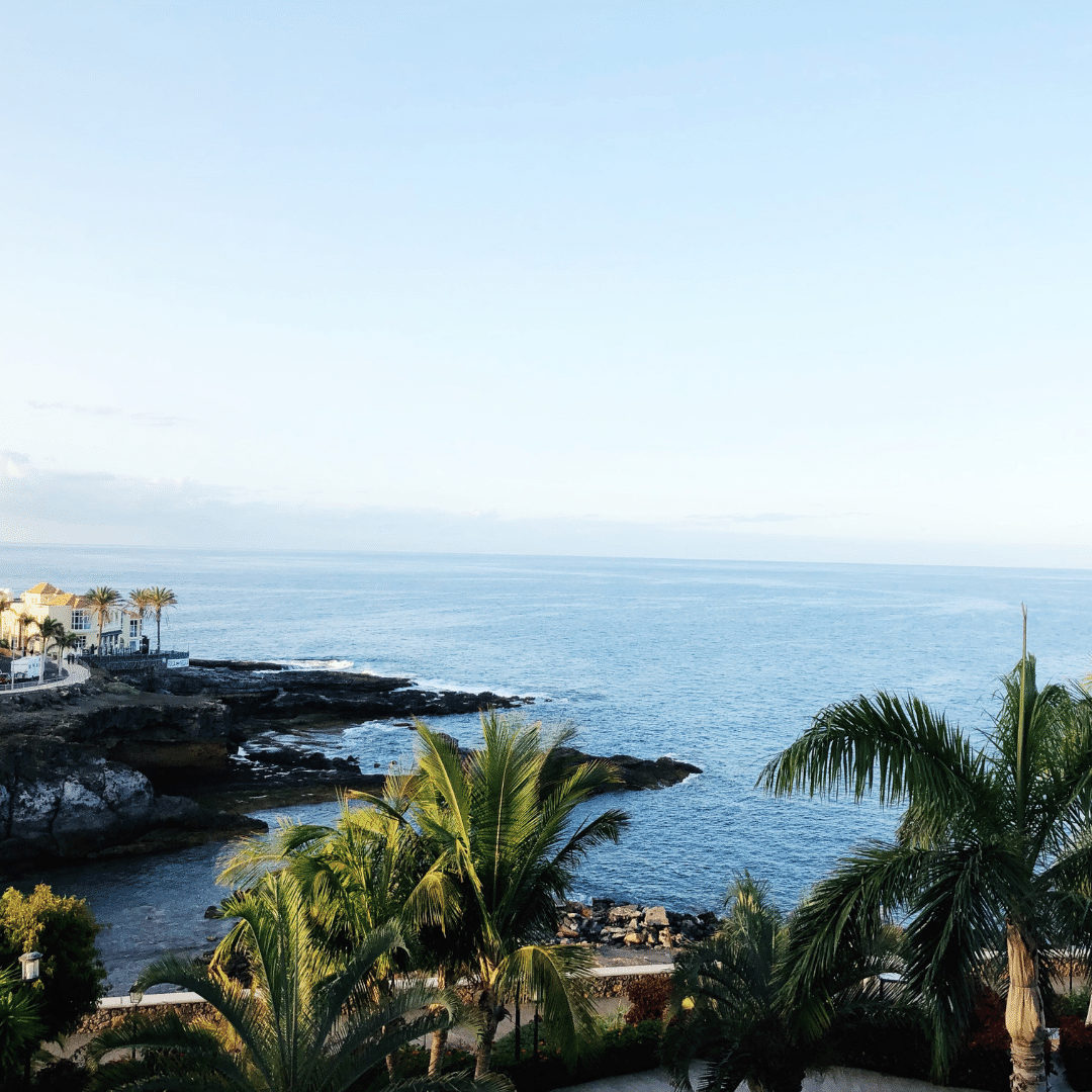 view of the sea from our balcony at the roca nivaria hotel