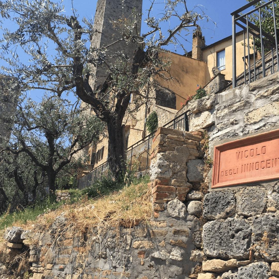 pretty san gimignano in tuscany, italy
