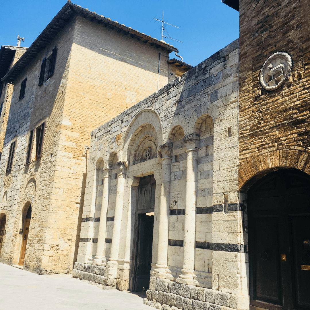 pretty building in san gimignano