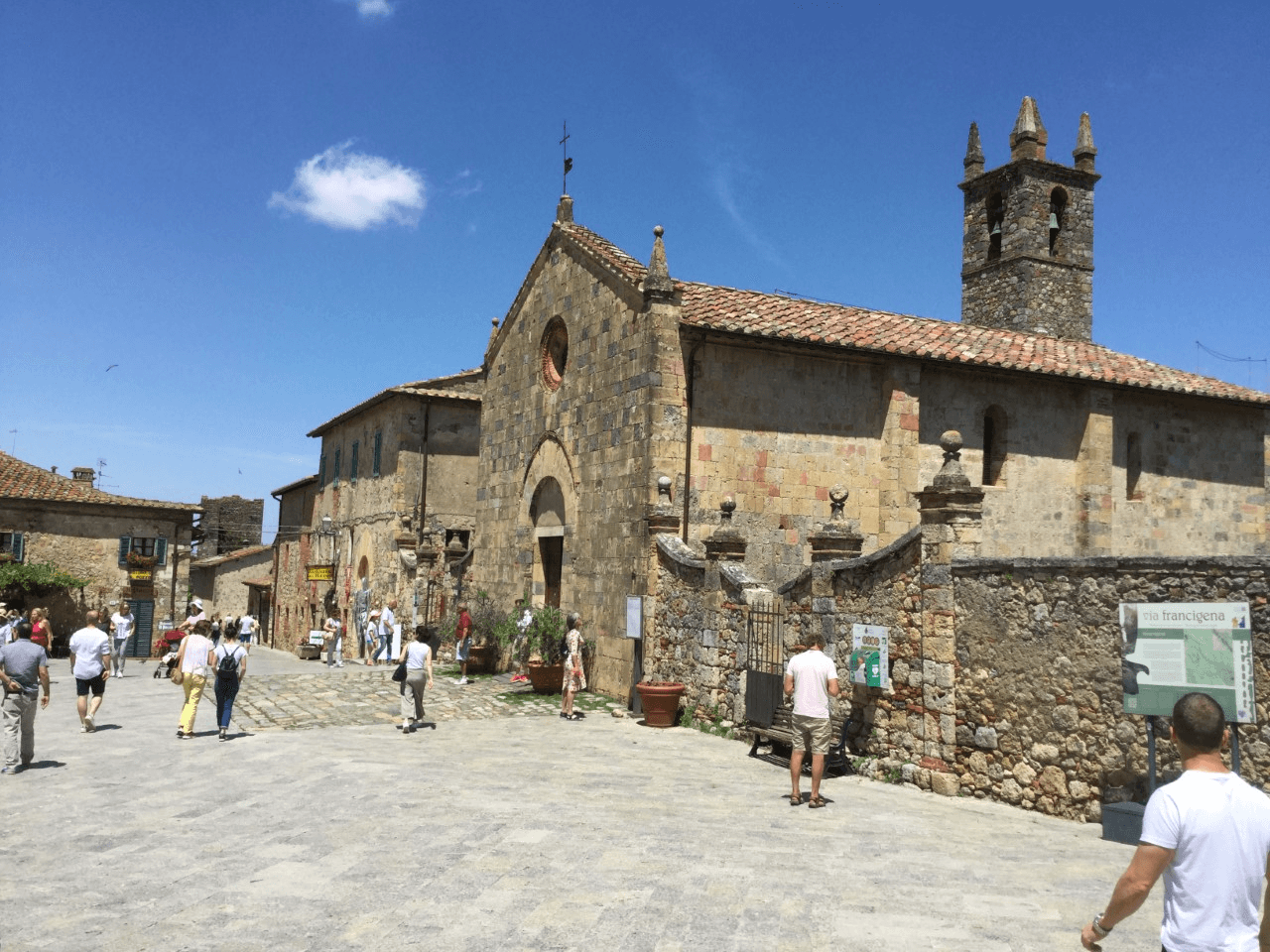 typical tuscan village