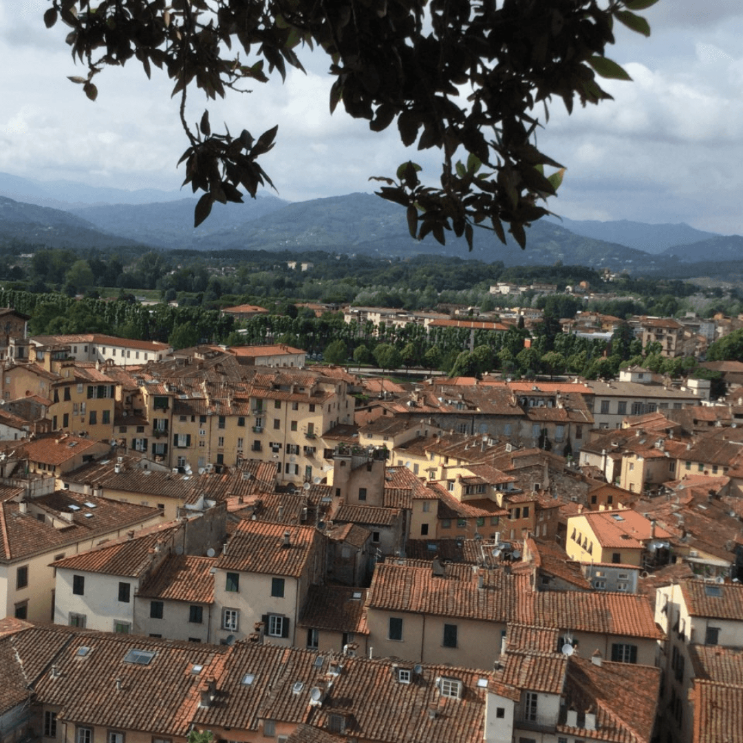 one week in tuscany looking down on Lucca
