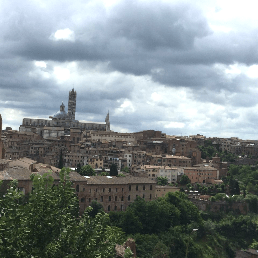 tuscany itinerary view of the town of siena