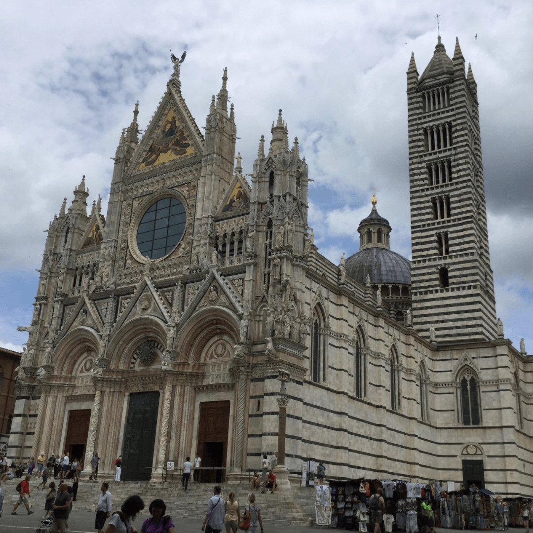 the fabulous duomo in the town of siena in Tuscany, italy