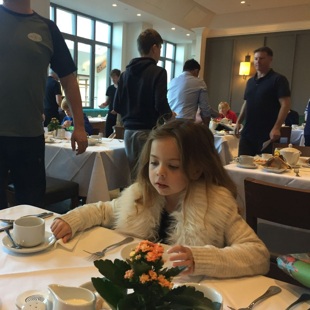 Wicklow With Kids Piper Quinn Eating Breakfast