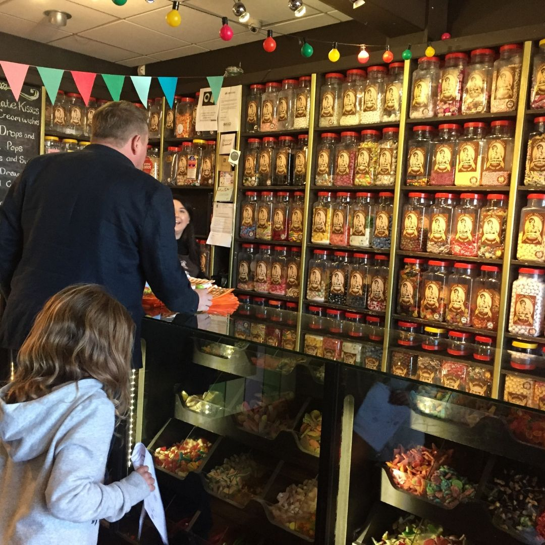 wicklow with kids sweet shop in greystones