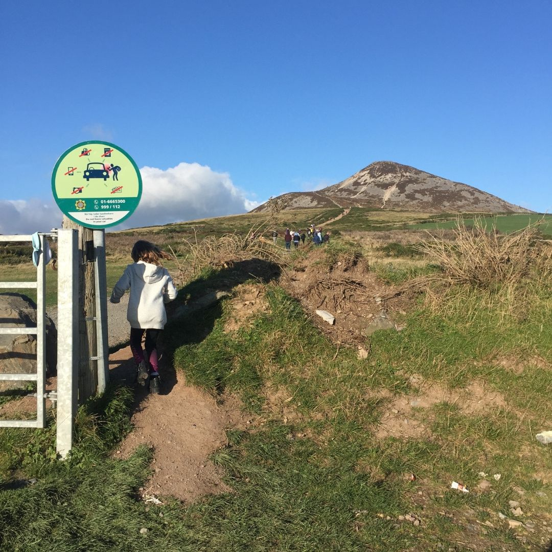 Things To Do In Wicklow With Kids, Piper Quinn Outside Sugar Loaf Mountain