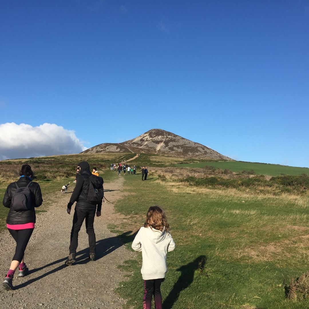 Climbing Great Sugar Loaf Mountain In Wicklow With Kids
