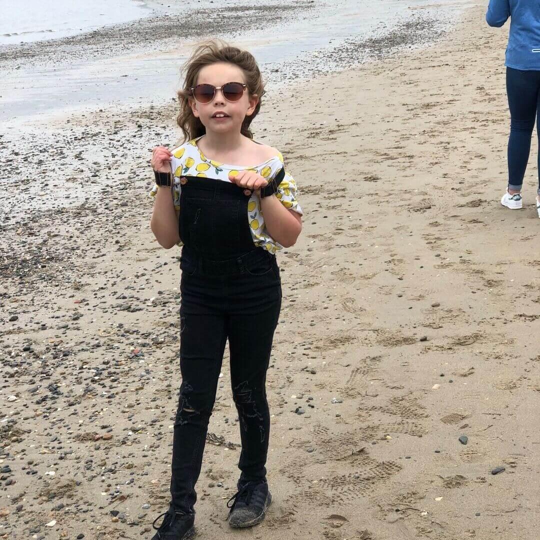 Best Beach On The Llyn Peninsula Girl Wearing Sunglasses