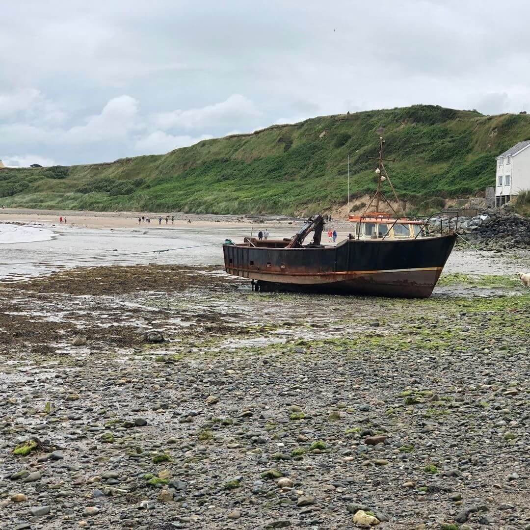 boat on the beach in north wales