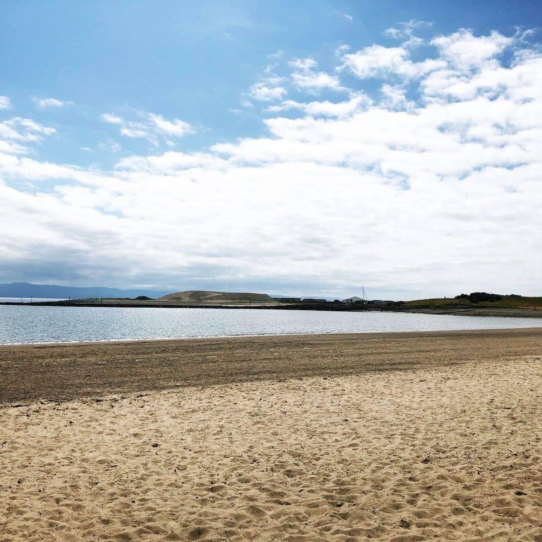 Sandy View Of Pwllheli Beach