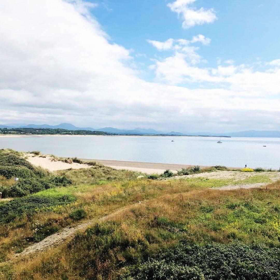 pwllheli beach on a sunny day