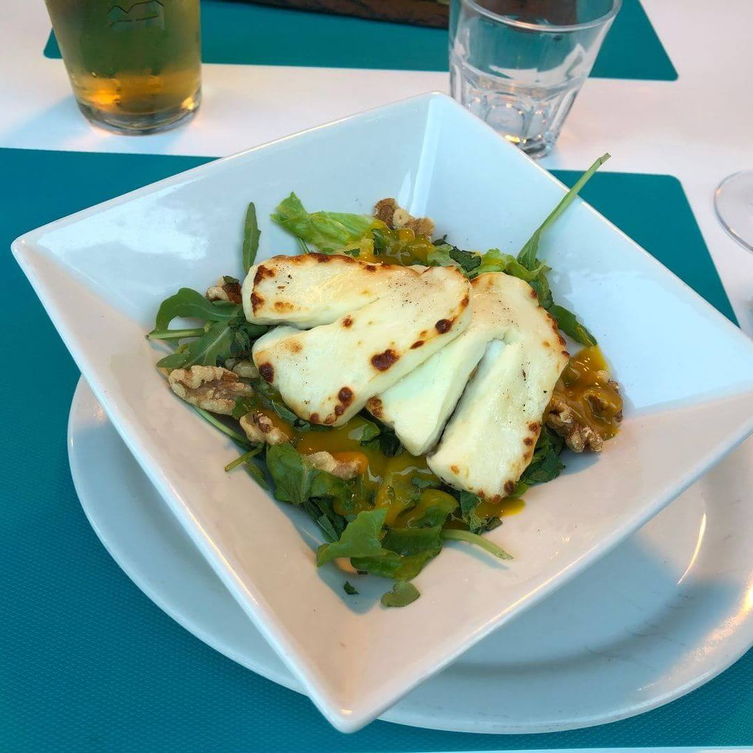 Halloumi Salad From Aqua Beach Bar In North Wales