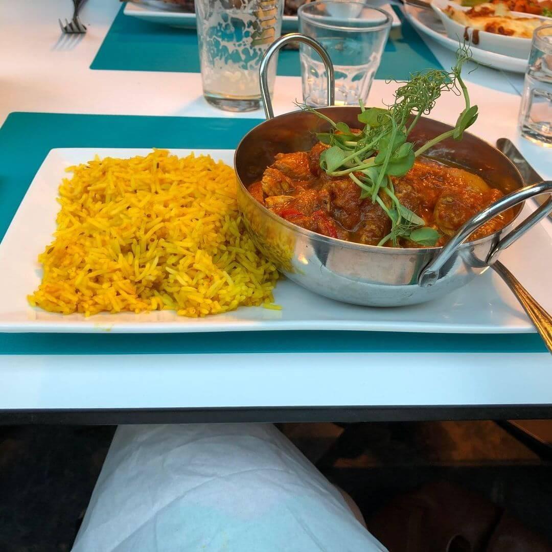 Curry From Aqua Beach Bar In Llanbedrog Beach, Wales