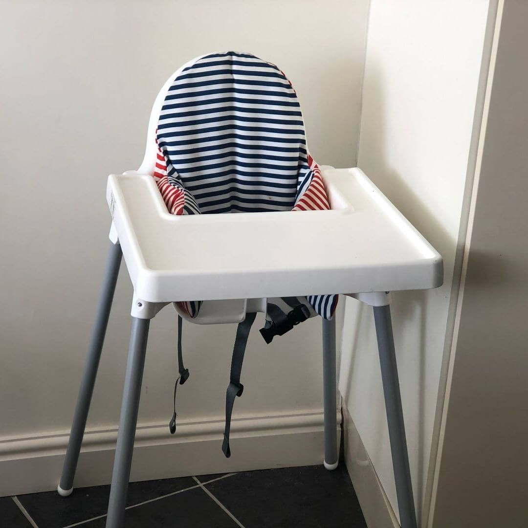 high chair in a holiday home in wales, perfect for large families
