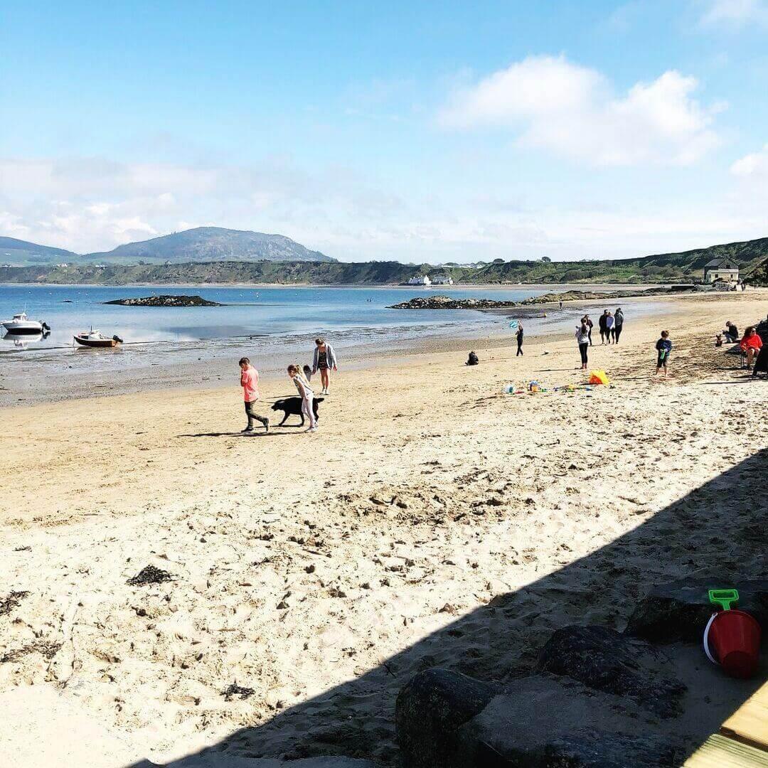 morfa nefyn beach, location of ty coch pub