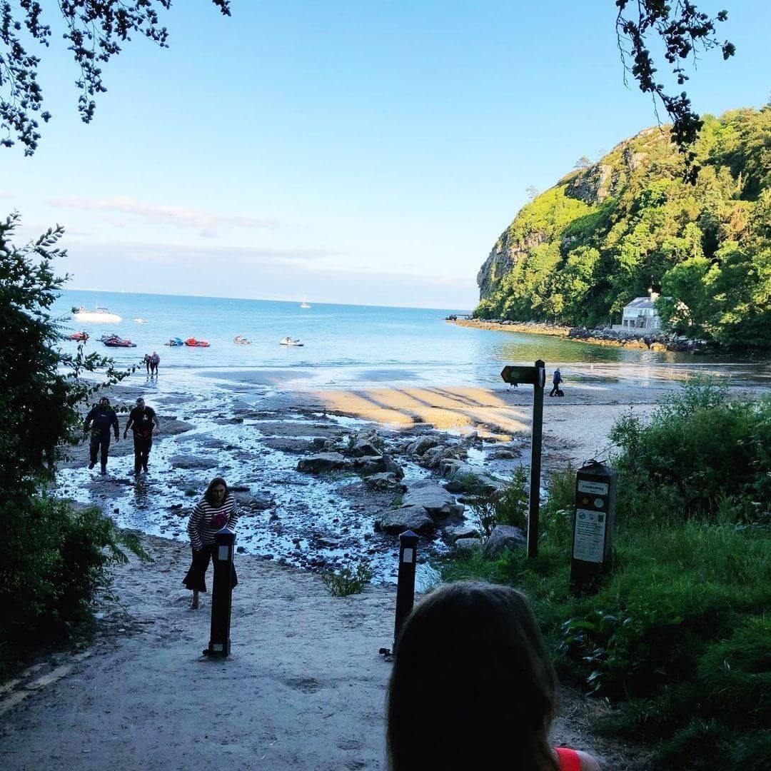 walking down to llanbedrog beach