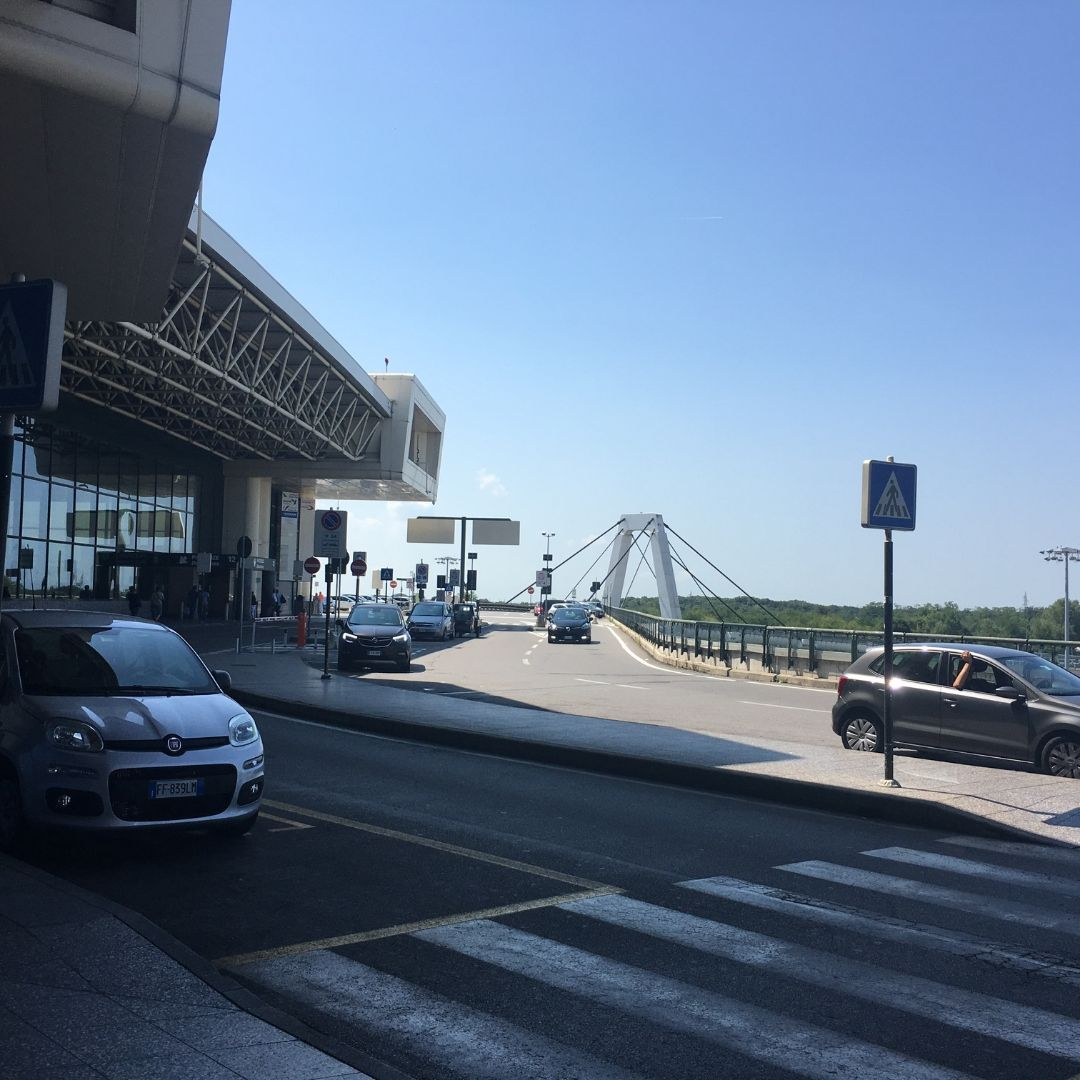 Milan Malpensa Airport from the outside