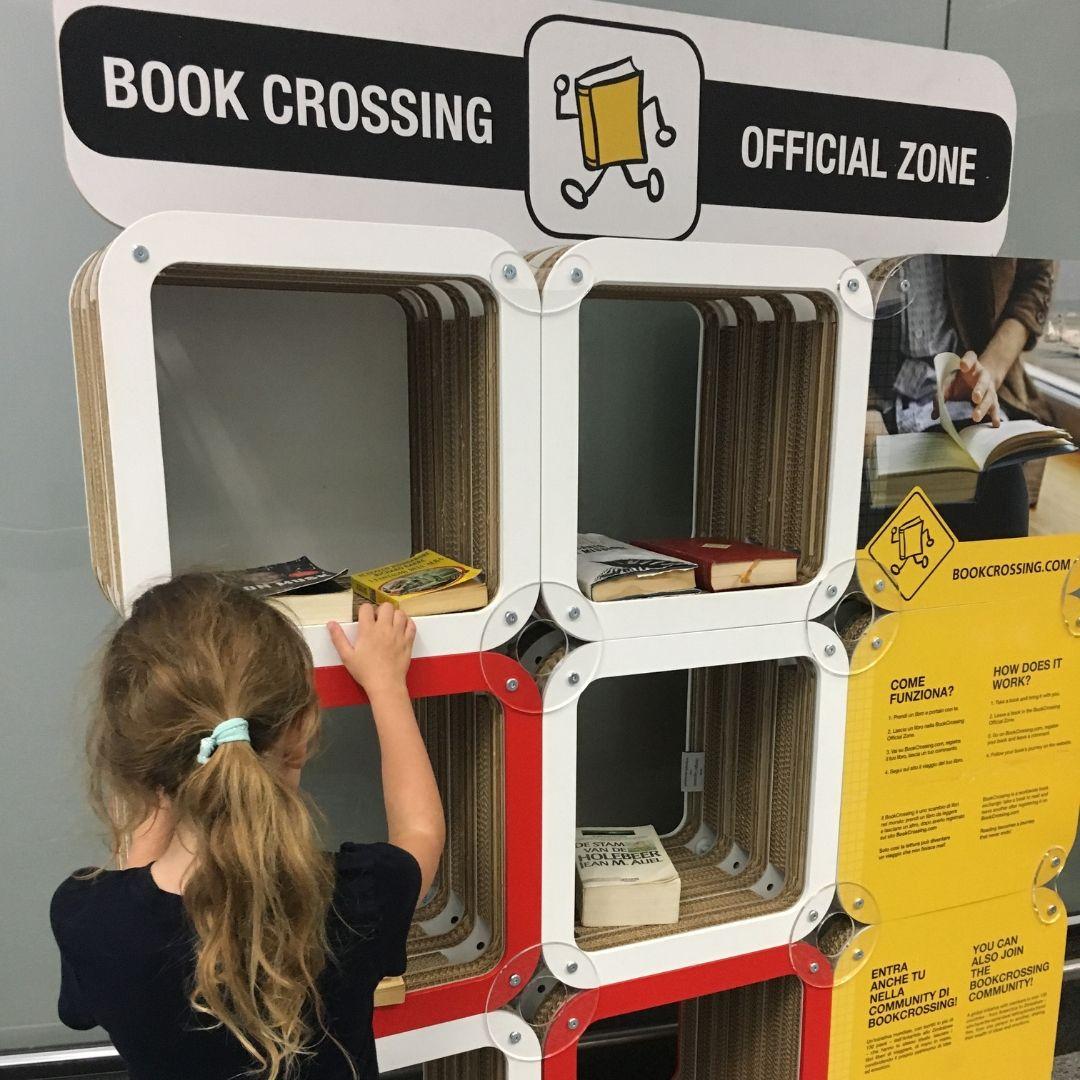 Milan malpensa airport book crossing