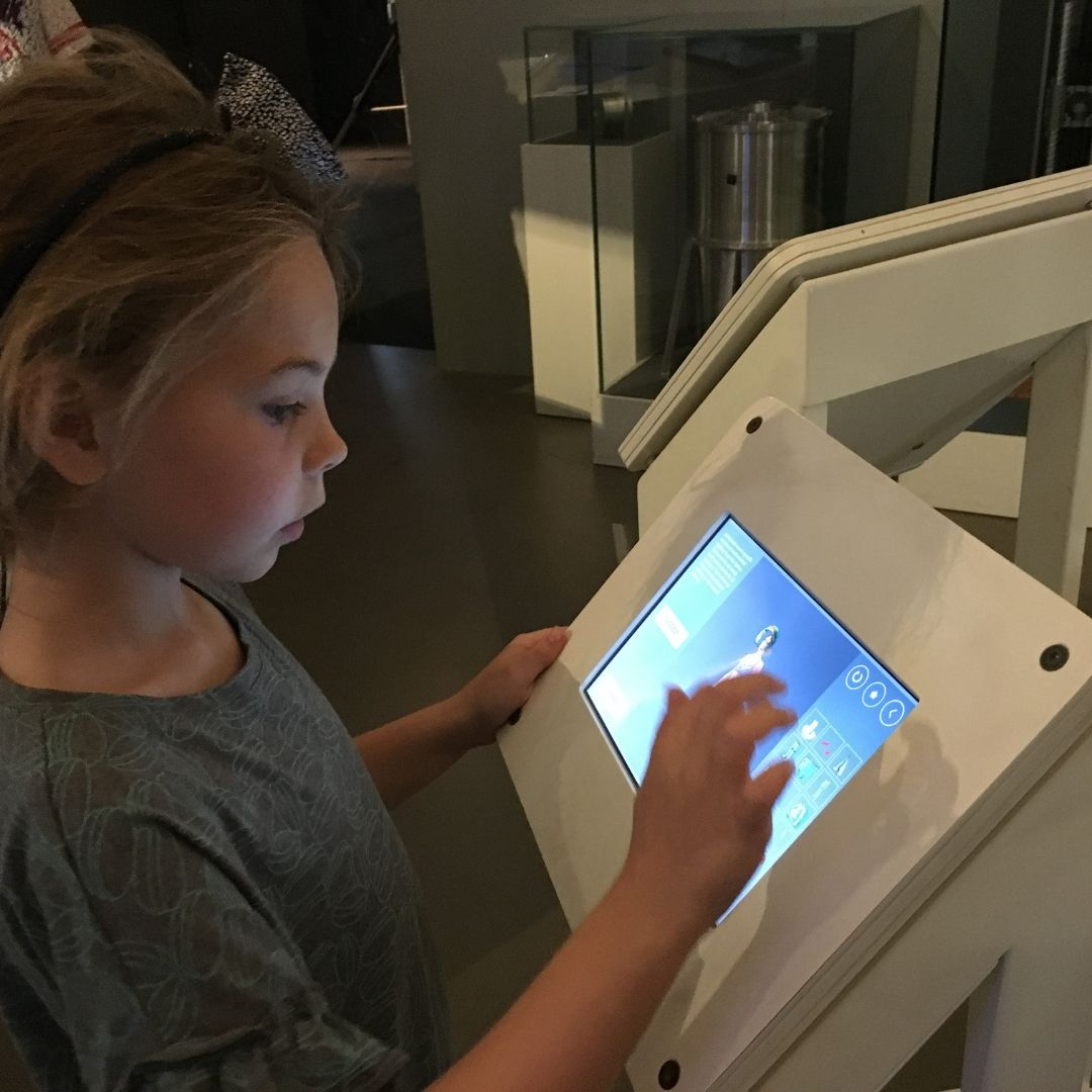 interactive exhibits at Milans science museum