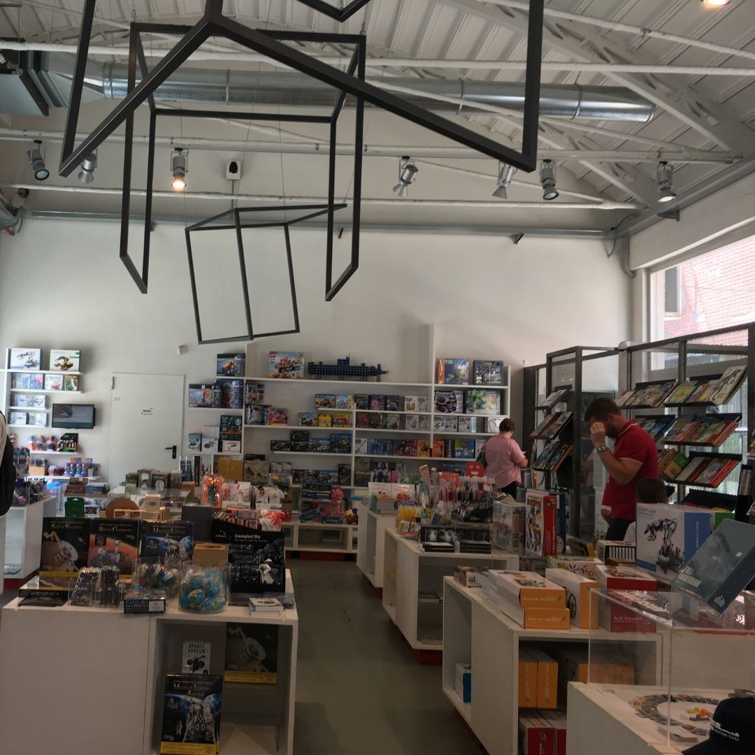 gift shop at Milans science museum