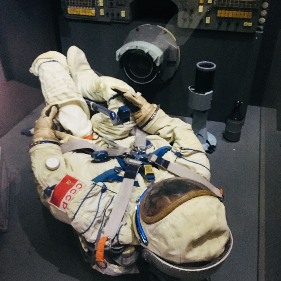 astronaut at the science museum in milan
