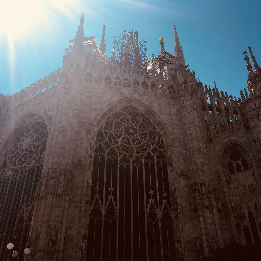 the duomo in Milan on a sunny day